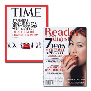 TIME一年期+讀者文摘(英文版)一年期