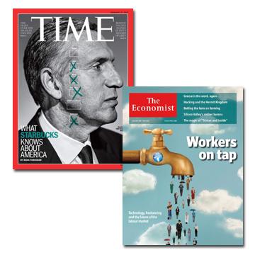 TIME一年期 + Economist(Print)一年期