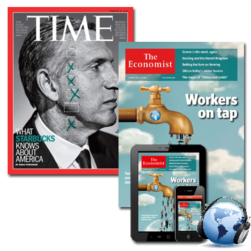 TIME+Economist(Print+Digital)各一年